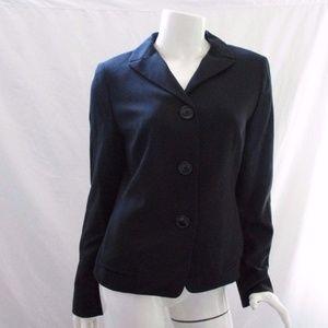 Anne Klein Blazer Coat Black Jacket 4 Small Wool